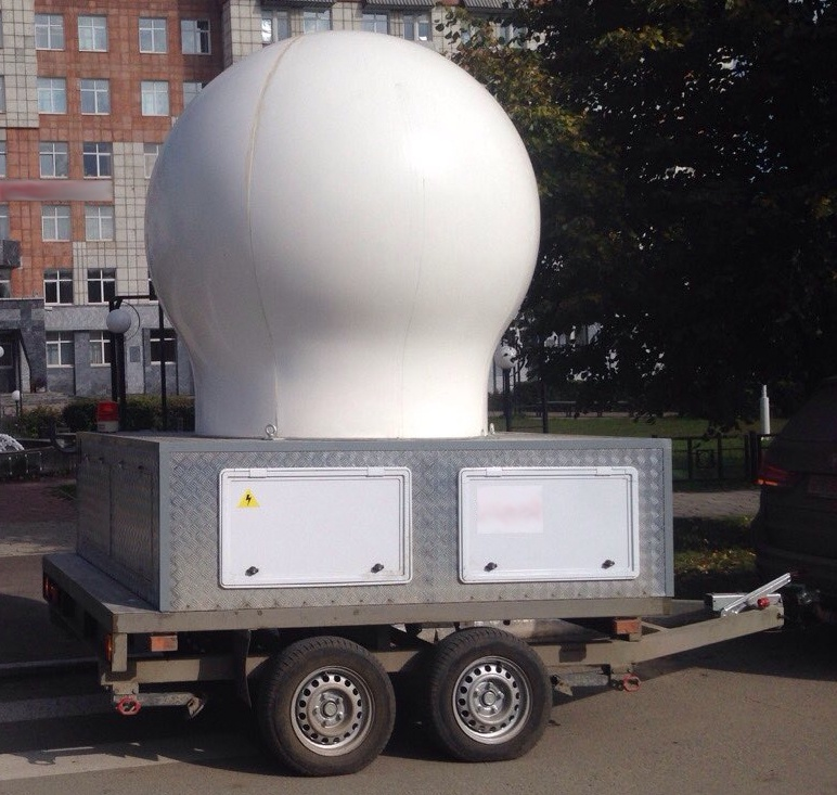 GAMIC Weather Radar mounted on a trailer