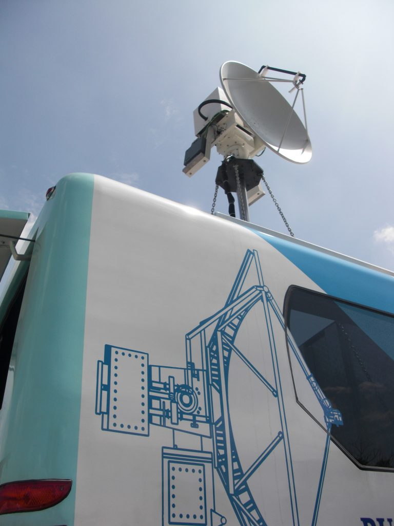 GAMIC Weather Radar mounted on a bus