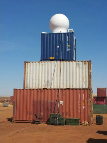 Weather Radar on Container Stack