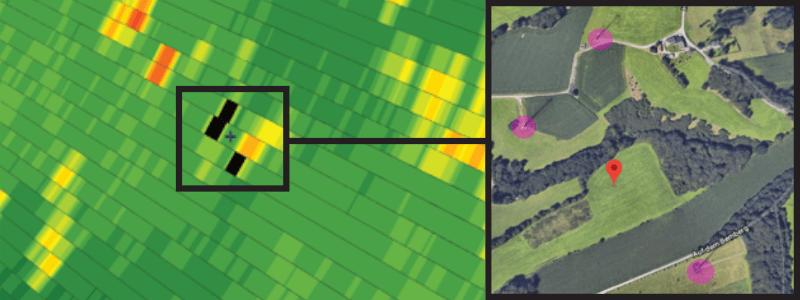 Screenshot of GAMIC Wind Turbine Clutter Detection