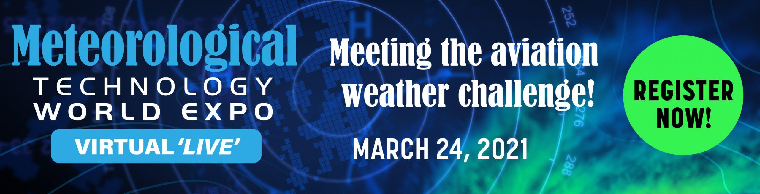 Meteorological Technology World Expo Virtual 'Live' Banner