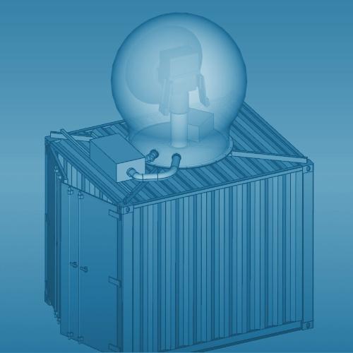 Weather Radar under Radome on Container