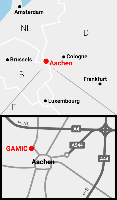 GAMIC location overview map