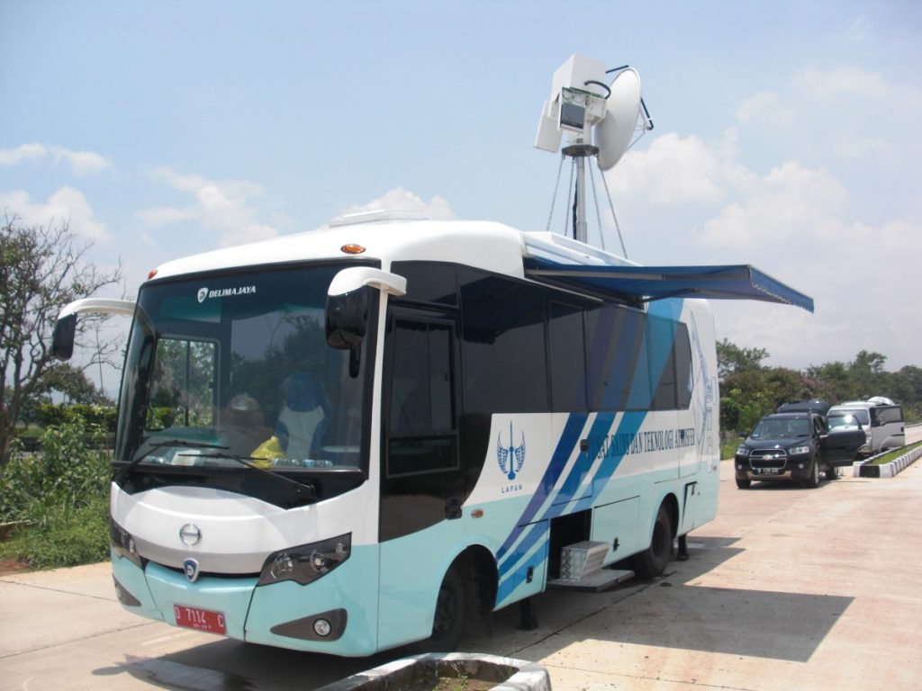 Weather radar mounted on a bus