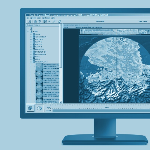Display with GAMIC weather radar software
